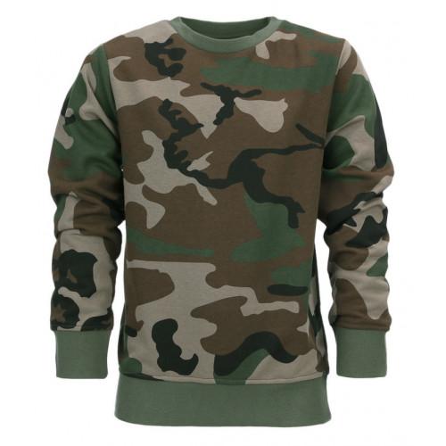 Børne Sweater Woodland Camouflage